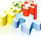 Puzzlespiel vier Stockfotografie
