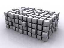 Puzzlespiel-Würfel stock abbildung