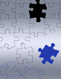 Puzzlespiel, welches das rechte findet Stock Abbildung