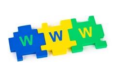 Puzzlespiel WWW Lizenzfreie Stockfotos