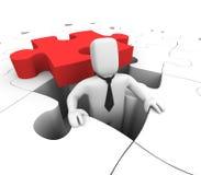 Puzzlespielarbeitskraft Stockfotos