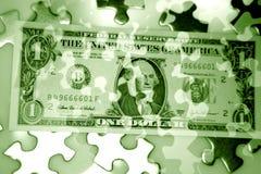 Puzzlespielbargeld Lizenzfreies Stockbild