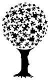 Puzzlespielbaum Lizenzfreie Stockbilder