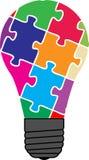 Puzzlespielbirne Stockfoto