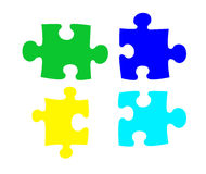 Puzzlespiele stock abbildung