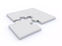 Puzzlespiele auf einem weißen Hintergrund Lizenzfreie Stockfotografie