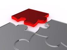 Puzzlespiele auf einem weißen Hintergrund Stockfoto