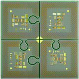 Puzzlespiele CPU Stockbild