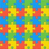 puzzlespiele Nahtloses Farbenmuster Stockfotografie