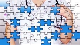 Puzzlespiele von der Krankenschwester Lizenzfreies Stockfoto