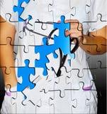 Puzzlespiele von der Krankenschwester Stockfotografie