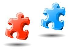 Puzzlespielelemente Lizenzfreies Stockbild