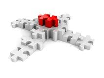 Puzzlespielerfolgsfinanzbalkendiagrammdiagramm Stockfotografie