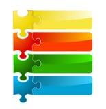 Puzzlespielfahnensatz Stockfotografie