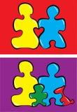 Puzzlespielfamilie Lizenzfreie Abbildung