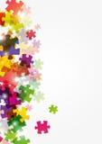 Puzzlespielfarbenhintergrund Lizenzfreie Stockbilder
