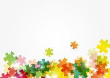 Puzzlespielfarbenhintergrund stock abbildung