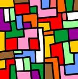 Puzzlespielfarbmosaik Lizenzfreies Stockfoto
