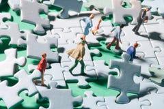 Puzzlespielgewitter Lizenzfreies Stockfoto