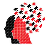 Puzzlespielhauptpaare Lizenzfreies Stockbild