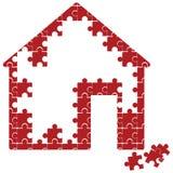 Puzzlespielhaus Lizenzfreie Stockfotos