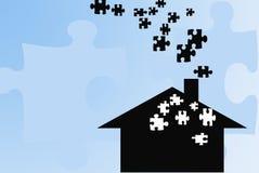 Puzzlespielhaus Stockfoto