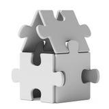 Puzzlespielhaus Stockbild
