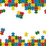 Puzzlespielhintergrund bunt und endlos vektor abbildung