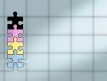 Puzzlespielhintergrund - CYMK Stock Abbildung
