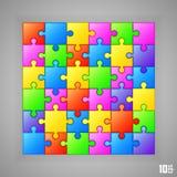 Puzzlespielhintergrundfahne Stockbilder