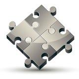 Puzzlespielikone auf weißem Hintergrund Lizenzfreies Stockfoto