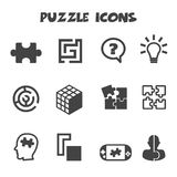 Puzzlespielikonen Lizenzfreies Stockfoto