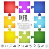 Puzzlespielinformationsgraphik Lizenzfreies Stockbild