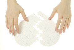 Puzzlespielinneres Lizenzfreies Stockfoto