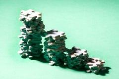 Puzzlespieljobsteps lizenzfreie stockfotos