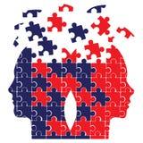 Puzzlespielköpfe Stockfotos