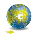 Puzzlespielkugel Stockfoto