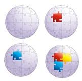 Puzzlespielkugel Lizenzfreie Stockbilder