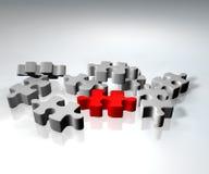 Puzzlespiellösung Stockbild