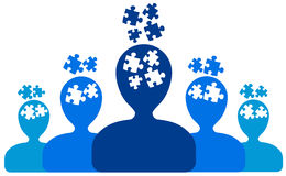 Puzzlespielleute Lizenzfreie Stockfotos