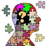 Puzzlespielmann Stockbild