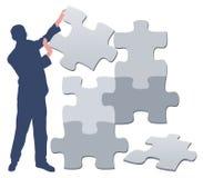 Puzzlespielmann/-abbildung Lizenzfreie Stockbilder