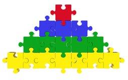Puzzlespielpyramidekonzept Stockbild