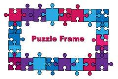 Puzzlespielrahmen stockfotos