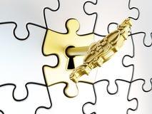 Puzzlespielschlüssel lizenzfreie stockfotos
