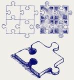 Puzzlespielskizze Stockbild
