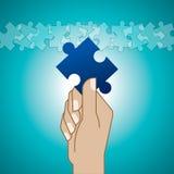 Puzzlespielspiel Lizenzfreies Stockfoto