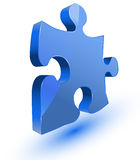 Puzzlespielstück Lizenzfreie Stockfotos