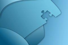 Puzzlespielstück-Geschäft backgrou Lizenzfreies Stockfoto