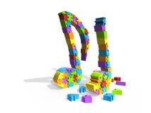 Puzzlespielstück-Musikanmerkungen stockfotografie